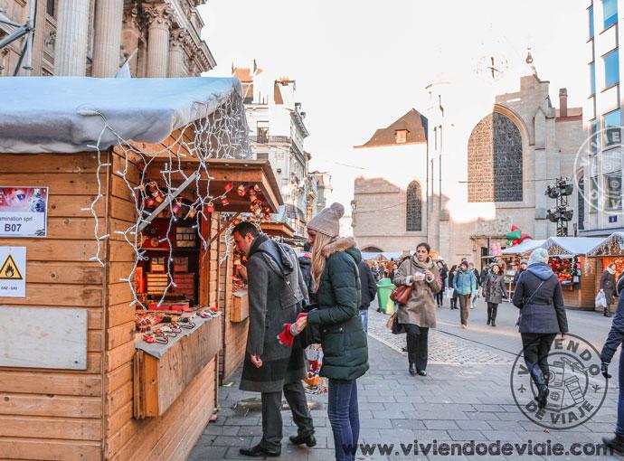 Mercado navideño de la bolsa de Bruselas