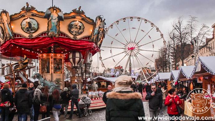 Noria en el mercado de Marché Aux Poissons en Bruselas