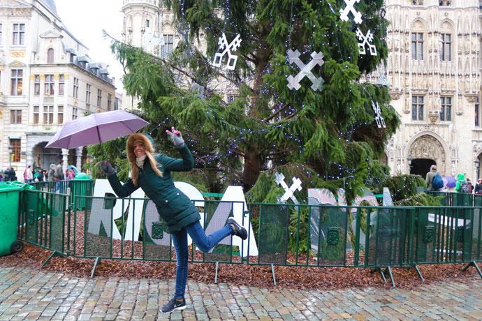 Grand Place Bruselas en Navidad