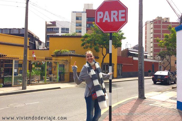 Que ver en Lima, señal PARE