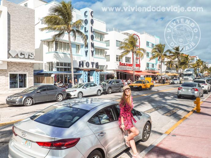 Alquilar coche en EEUU, Ocean Drive, Miami