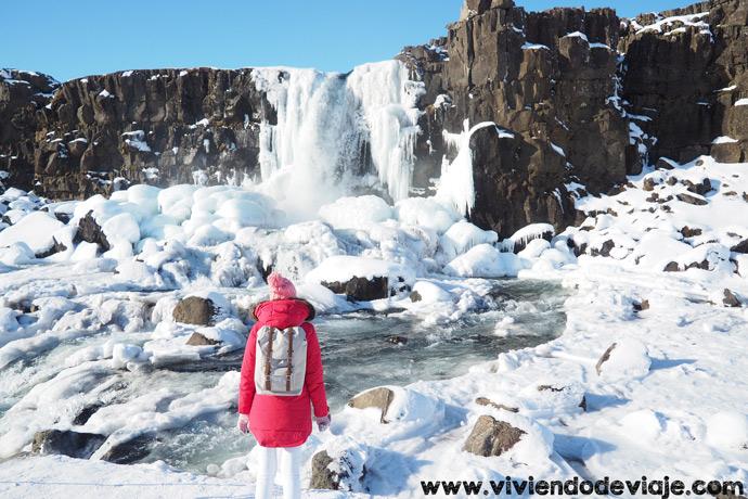 Ruta por Islandia en 10 días, cascada Oxagarfoss