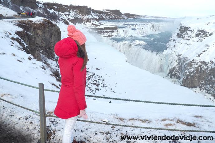 Que visitar en Islanida, Cascada Gullfoss