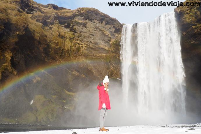 Que ver en Islandia, cascada Skogafoss