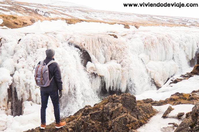 Ruta por Islandia en 10 días, cascada Kolugljúfur