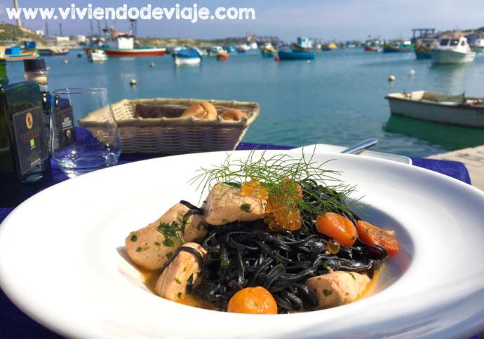 ruta por Malta, donde comer