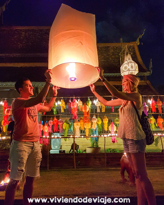 Loy Krathong y Yee Peng en Tailandia