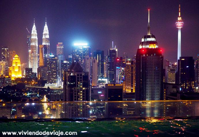 Piscina infinita, Airbnb Kuala Lumpur