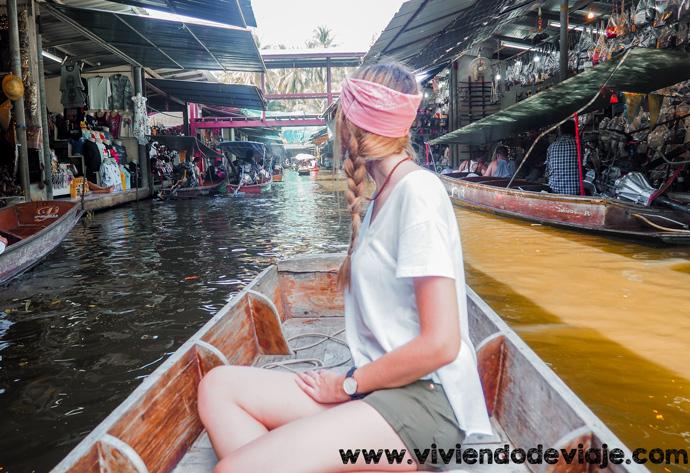 Que ver en Bangkok, mercado flotante