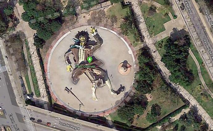 Foto del parque Gulliver a vista de Google Maps