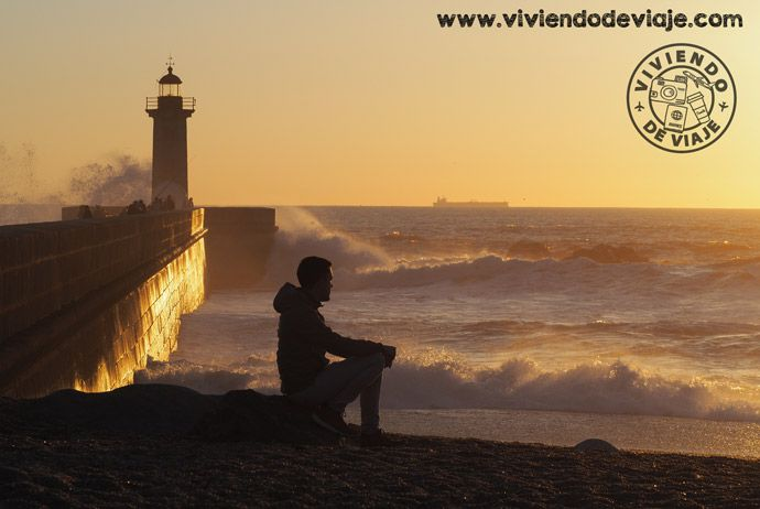 Que hacer en Oporto, atardecer en faro de Filgueiras