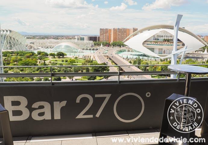 Vistas desde la terraza del hotel Barcelo Valencia