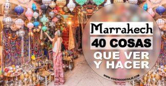 40 Cosas que ver y hacer en Marrakech