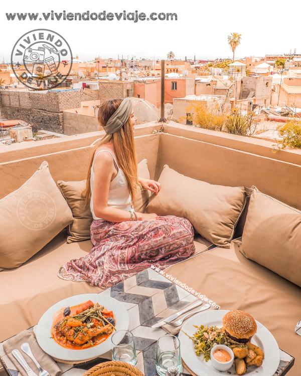 Que ver y hacer en Marrakech, terraza con vistas