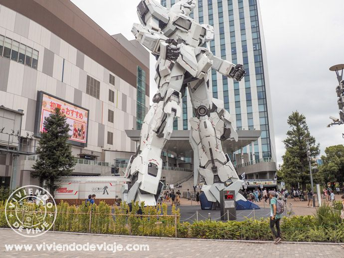 Robot Gundam, una de las cosas que ver en Tokio
