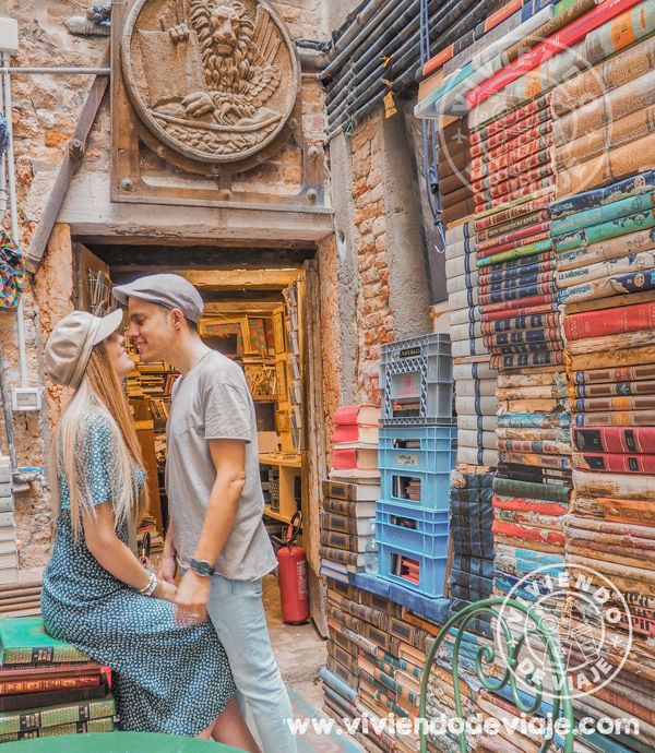 Qué hacer en Venecia, visitar la librería Aqua Alta