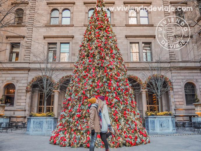Árbol de Navidad del Hotel Lotte New York