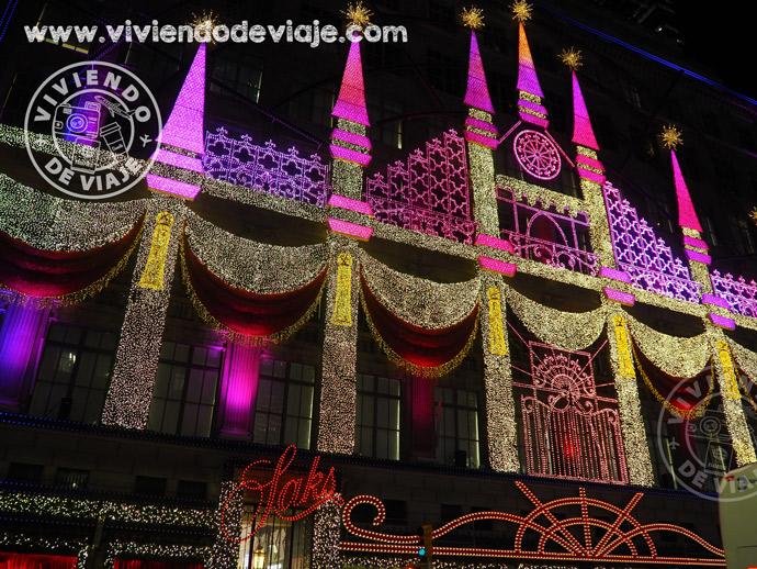 Iluminación en Saks, Navidad en Nueva York