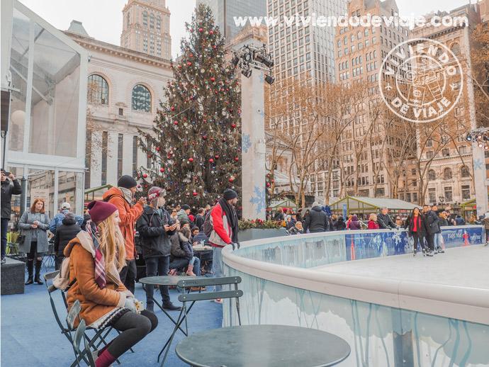 Bryant Park, una de las plazas más completas en Navidad