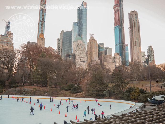 Navidad en Nueva York - Pista de patinaje de Central Park, Wollman Rink
