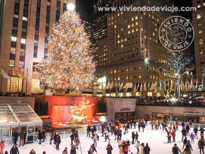 Pista de patinaje del Rockefeller - Nueva York en Navidad