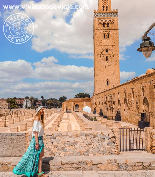 Mezquita Kutubía, imprescindible visitar en Marrakech