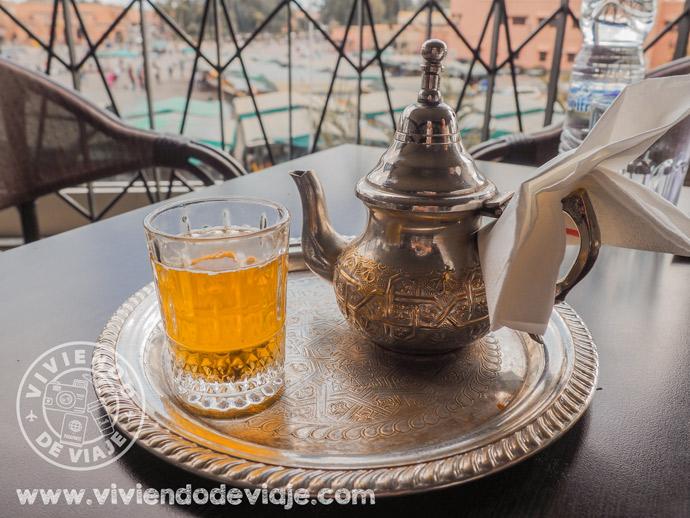 Té de menta en Marruecos,