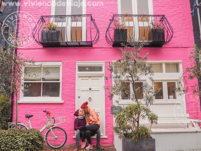 Alojarse en Londres en el barrio de Notting Hill