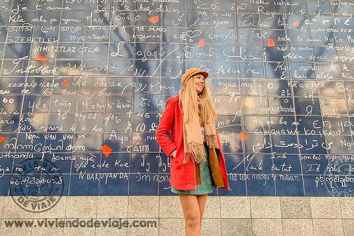 Muro Je t'aime en el barrio de Montmartre, París