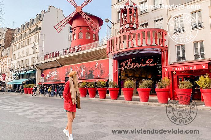 Moulin Rouge, un lugar indispensable que ver en París