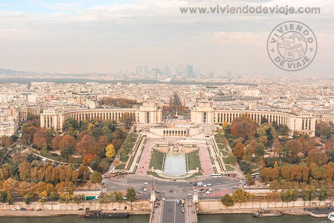 Vistas desde la Torre Eiffel, París
