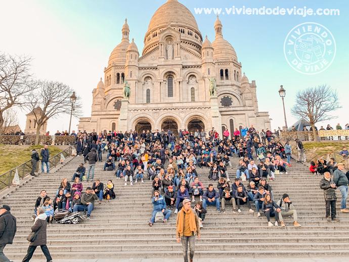 Atardecer en Sacre Cour, París