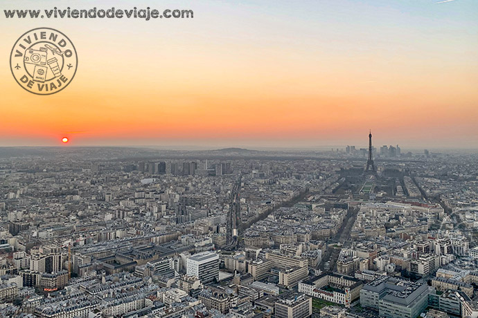 Atardecer en Montparnasse, París