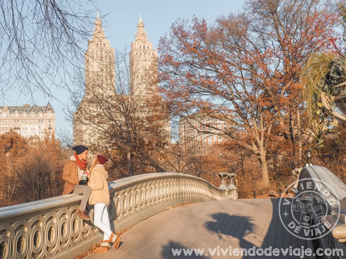 Bow Bridge en Central Park, un imprescindible!