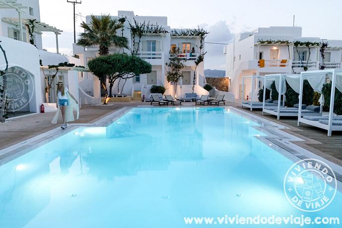 Alojamiento en Mykonos, Corfos Hotel. Islas Griegas