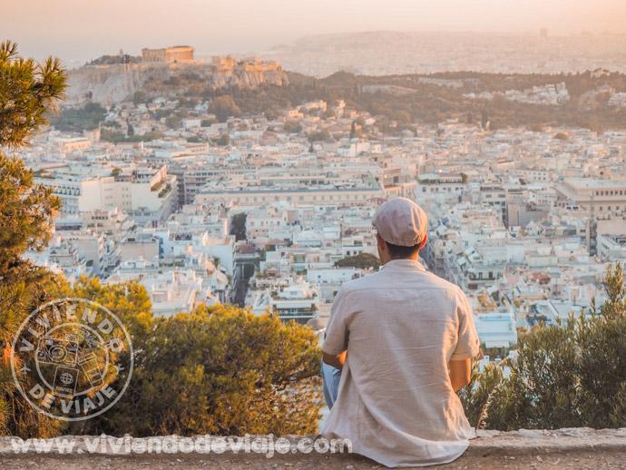 Atardecer desde el Monte Licabeto, Atenas