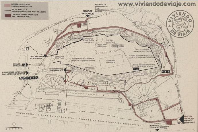 Plano de la Acrópolis de Atenas