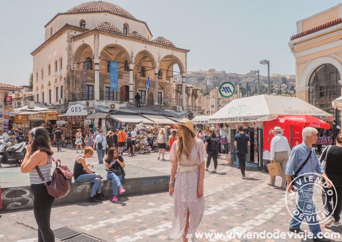 Barrio de Monastiraki, una de las cosas que ver en Atenas