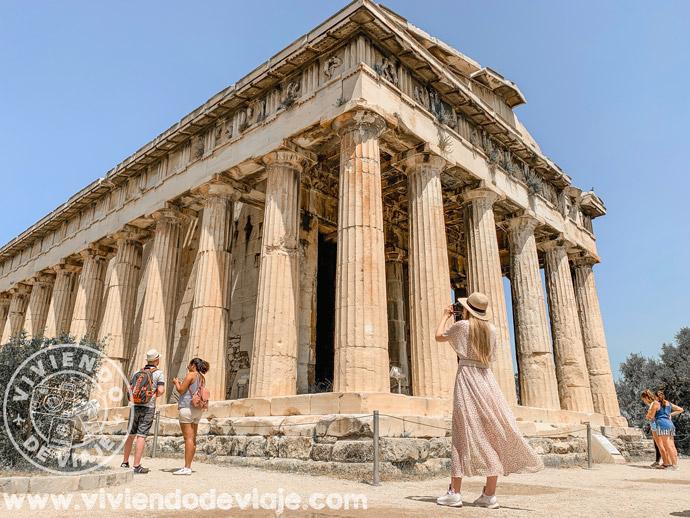 Templo Hefestion en el Ágora de Atenas