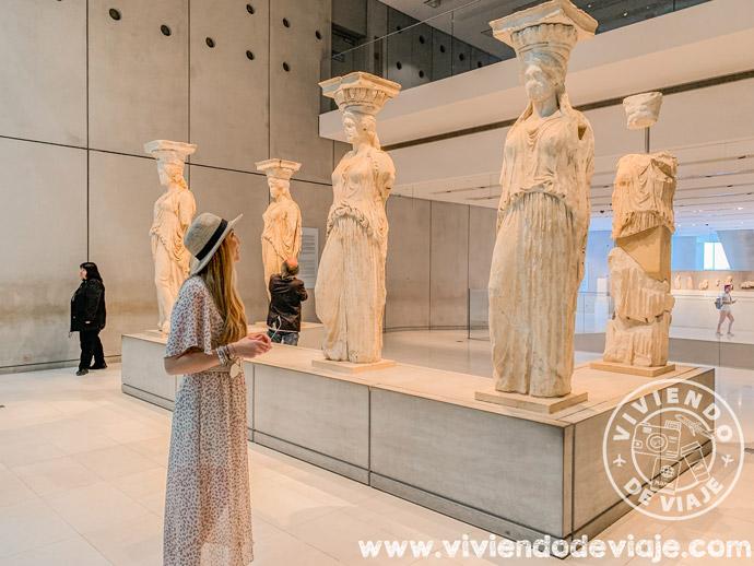 Cariátides en el Museo de la Acrópolis de Atenas