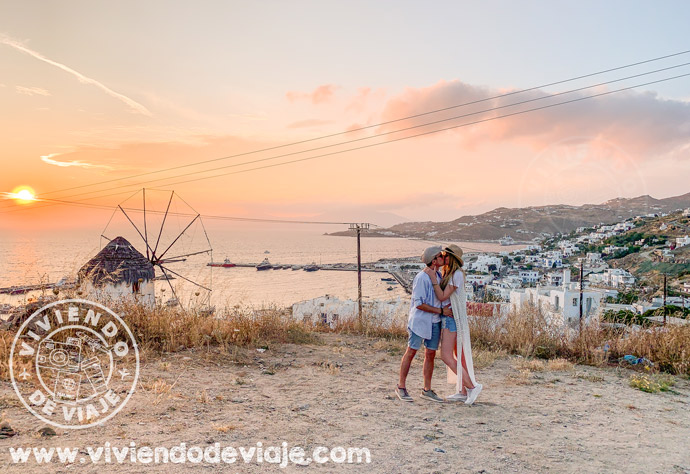Atardecer desde Boni´s Windmill, Mykonos