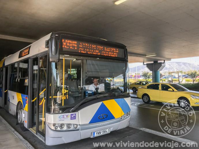 Cómo ir del aeropuerto al centro de Atenas en autobús