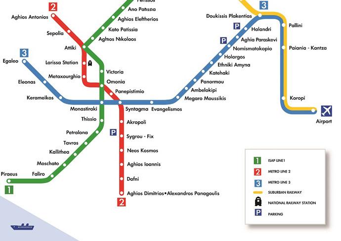 Cómo ir del aeropuerto al centro de Atenas en metro
