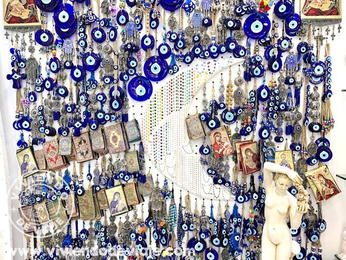 Souvenirs ojo griego en Mykonos