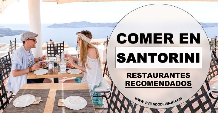 Dónde comer en Santorini