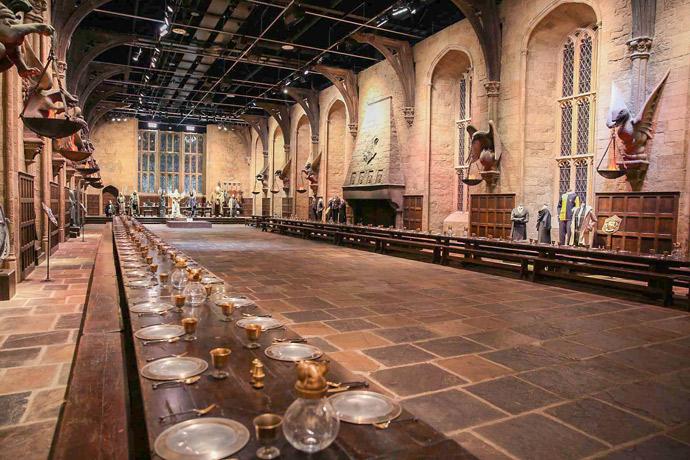 El gran comedor de Hogwarts