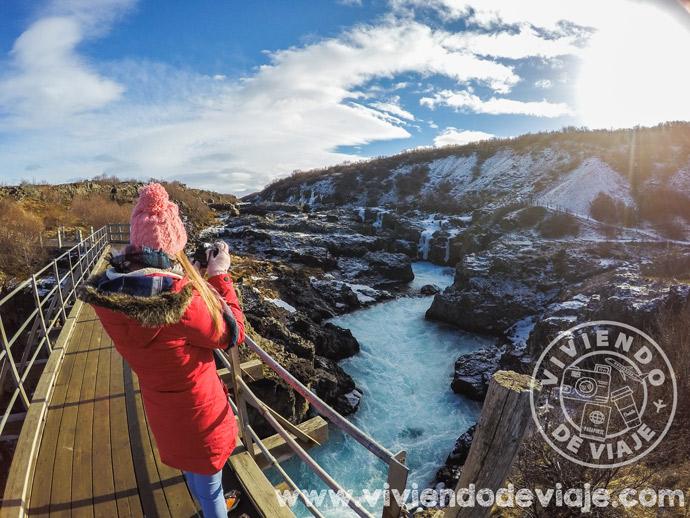Cascada Barnafoss | 7 días en Islandia