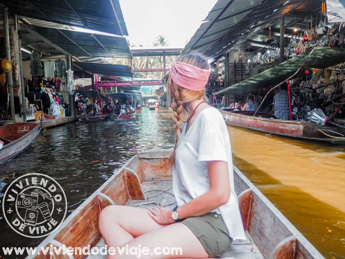 Mercado flotante de Bangkok, Tailandia