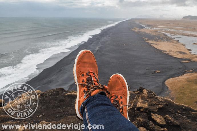 Playa de arena negra de Vik, Islandia