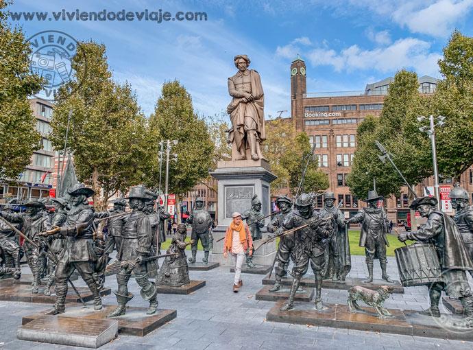 Plaza Rembrandt, Ámsterdam en 3 días